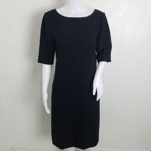 Banana Republic Black Elbow Sleeves Dress 12